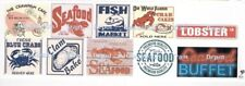 Seafood Cafe, Restaurant, Stores and Shops Water Transfer Decals Set #2 O Scale
