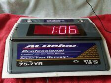 AC DELCO BATTERY ADVERTISEMENT DIGITAL CLOCK