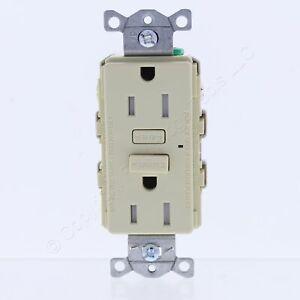 Hubbell Ivory Self-Testing Tamper Resistant GFCI Outlet 5-15R 15A 125V GFT15IZ