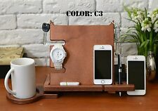 Iphone 6 7s charger station cell phone Desk stand dock apple watch wooden iphone