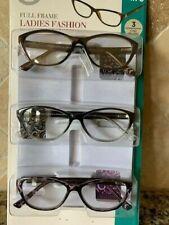 Design Optics Foster Grant Full Frame Ladies Reading Glasses 3 PK +1.5 OPEN PK
