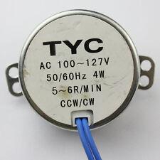 ROBUST AC SYNCHRONOUS MOTOR 4W AC 110V 5/6RPM CCW/CW TORQUE 4kg J96j