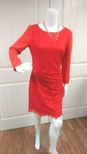 Red Wild Meadow Lace Stretch Dress Medium / Small  #2T1