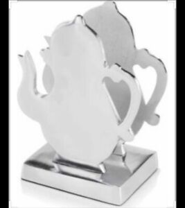 NEW Tetera Tea Pot Napkin Holder in Silver