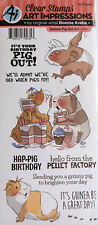 AI ART IMPRESSIONS GUINEA PIG OUT SET Bonnie Krebs Bday Clear Stamps Cardmaking
