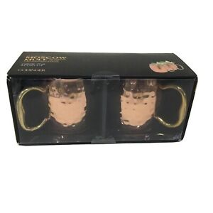 Godinger Hammered Copper Moscow Mule Mugs (Set of 2)New In Box