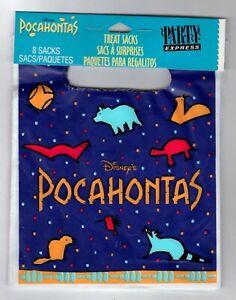 Pocahontas Birthday Party Treat Bags 8 Ct Goody Loot Favor Sacks Purple Hallmark