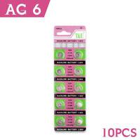 10 Pcs AG6 LR920 SR69 SR920SW Watch Battery Coin Cells Button Batteries Alkaline