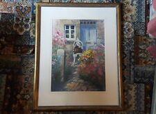 Originale Wendy Stevenson Acquerello 'The Blue Porta' circa 1980s
