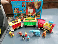 RARE Vintage Fisher Price Circus Train Set with Orginal Box 100% Complete