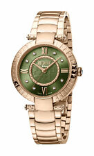 Ferre Milano Women's FM1L104M0081 Green Dial Rose-Gold IP Stainless Steel Watch