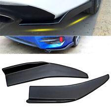 Car Rear Bumper Spoiler lip Canard Diffuser wrap angle Shovel Black Pair ABS