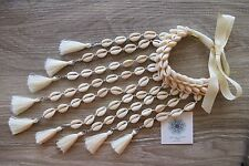 Tassel Necklace Long Cowrie Shells Beach Resort Exquisite Handmade Boho