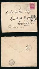 SOUTH AFRICA CAPE of GOOD HOPE 1903 CROWN CC MACHINE CANCEL + EMBOSSED FLAP ENV