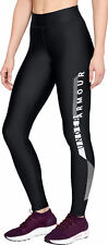 Under Armour HeatGear Graphic Womens Long Training Tights - Black