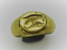 DETECTOR FINDS ANCIENT ROMAN GOLD RING DEPICTING LEGIONARY EAGLE 300-400AD