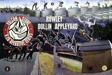 Volcom 2005 Rowley Dollin Appleyard Big skateboard poster Flawless New Old Stock
