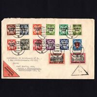 DANZIG GERMANY 1939 Cover Danzig to Berlin, franked full set Sc# 241-254