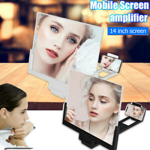 "14"" Phone Screen Magnifier 3D Video Amplifier Stand Bracket For Samsung Note 20"