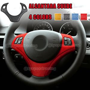 Alcantara Wrap Steering Wheel Cover Decals Trim For BMW E90 E92 E93 2009-2012
