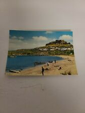 Rhodes Greece Postcard View of Lindos Vintage Color Unposted Oversize 4x6