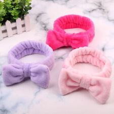 Women Soft Makeup Cosmetic Facial Shower Bow Headband Hairband Hairlace Elastic