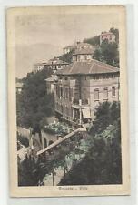 90515 antica cartolina di brunate ville lago di como si vede funicolare