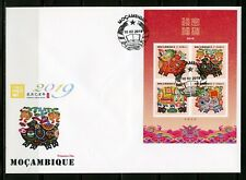 MOZAMBIQUE 2019 YEAR OF THE PIG SHEET FIRST DAY COVER