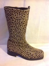 BuCKLe My Shoe Brown Mid Calf Leather Boots Size 37