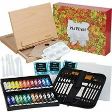 48-Pcs Acrylic Painting Set- Deluxe Painting Kit with Beechwood Sketchbox