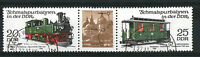 GERMANY 1980 20/25  RAILWAY COMMEMORATIVE STAMPS TAB GUTTER PAIR SG E 2277 & 9 a