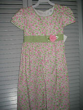 NEW THERESE BOUTIQUE Girl dress 6 Pink Rose Apple Green Wooden Soldier Easter