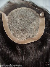 Full Lace Silk Top Closure Indian Remy Remi Human Hair Partial Wig 6x6 14 inch