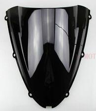 Black Windshield Windscreen For Kawasaki ZX6R 636 2005 2006 2007 2008