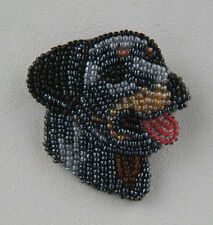 Staffordshire Bull Terrier Beaded Pin Brooch Dog Breed sale! New