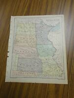Nice color map of The Central States/West.  Printed 1896 by American Book Co.