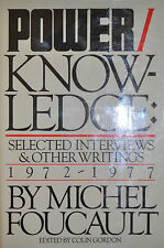 POWER/KNOWLEDGE BY MICHEL FOUCAULT *FIRST EDITION*
