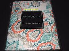 "Cynthia Rowley Fabric Shower Curtain 72"" x 72"" Tapestry Medallion - New"