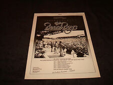 The Beach Boys 1978 congrats ad for Australia Tour, Brian Wilson, Mike Love