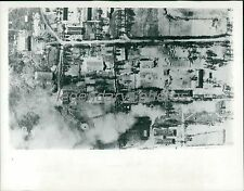 1965 Vietnam Bombing Devestation Original News Service Photo