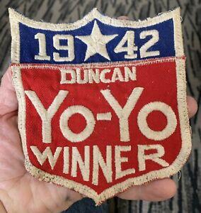 vintage 1942 Duncan YO-YO Winner cloth patch