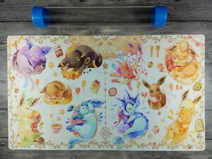 PM Eeveelution Playmat Trading Card Game Custom Duel Playmat Free Best tube
