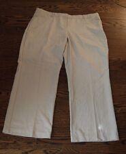 LANE BRYANT beige tan cream dress pants 18 long career pocket NWOT SISLOU H12