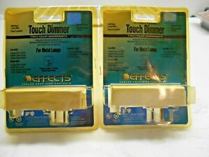 Pair of Touch Dimmers For Metal Lamps 4-Light Level Simple Plug-In New Old Stock