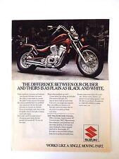 1986 Suzuki Intruder VS700GL Motorcycle Original Print Ad