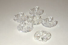 LEGO Glide Plate  2 x 2 clear rounded bottom - pack of 6 - 2654