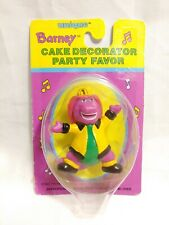 Vintage BARNEY Dinosaur FIREMAN Cake Decorator Party Favor Figure #14406 NIP