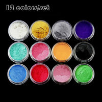 1Set 12 Color Pigments Mica Powder For Soap Makeup Cosmetics Resin Colorant Dye