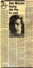 7/4/1973D6 Article & Picture : Don Mclean laying the pipe to rest