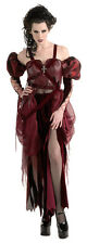 CRUELZELLA Cruella Burgundy Red Costume Dress Large 14 16 Scary Halloween